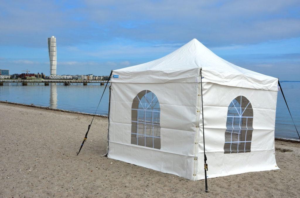 Tält, uthyrning, hyra, partytält 3x3 meter