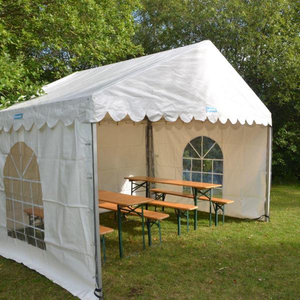 Tält, uthyrning, hyra, partytält 4x3 meter