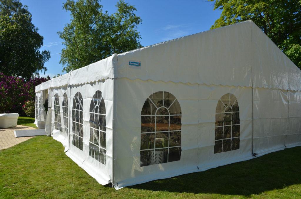 Tält, uthyrning, hyra, partytält 8 meter