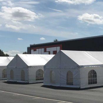 11. Hilti: Uthyrning av extra utbildningslokaler; tält, möbler och inredning.