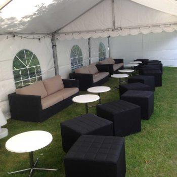 22. Privat: Uthyrning av partytält, loungemöbler som soffor, soffbord, sittkuber m.m.