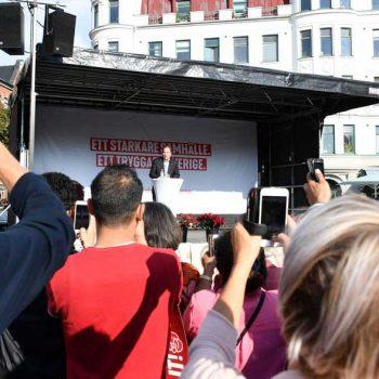 28. Socialdemokraterna: Uthyrning av scen för valkampanj.