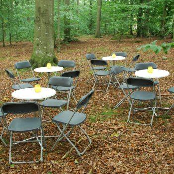 2. Företag: Uthyrning av klappstolar och bord i olika storlekar.