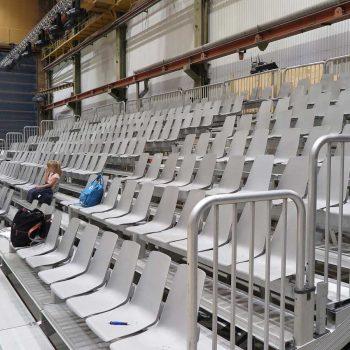 32. Varvsspelen Uddevalla: Teaterläktare uthyrd av Evivent.
