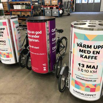 35. Evivent: PedalReklam/Cykelreklam att hyra för marknadsföring.