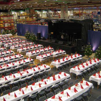 4. Tetra Pak: Julfest på företag som hyrde allt från bord och stolar till scen och belysning.