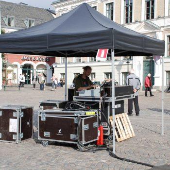 8. Kulturnatten Lund: Uthyrning av mixertält för konsert.